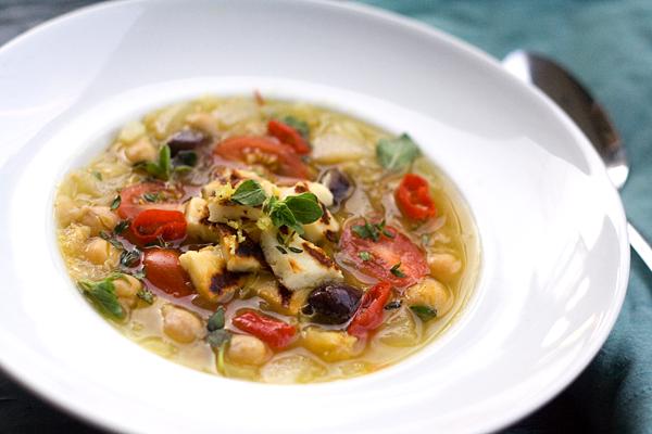 Mediterranean Chick Pea Soup