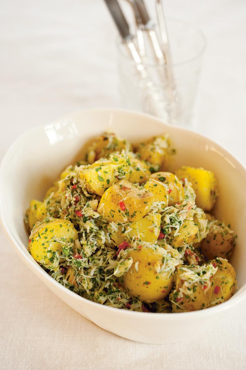 White crab and new potato recipe