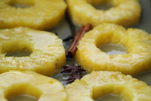 Roasted Pineapple in Rum and Spices