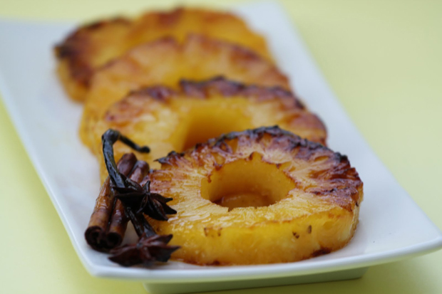 Roasted Pineapple in Rum and Spices | Good Cooking