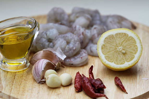 Shrimps In Garlic Oil