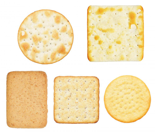 Crackers, which are often served with Gorgonzola cheese