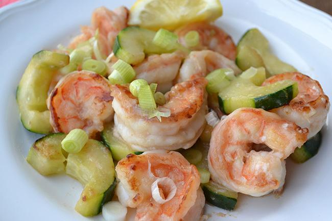 Shrimp with Cucumber