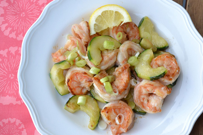 Shrimp with Cucumber