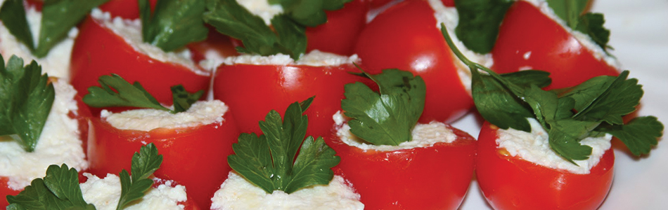 Tomato and cheese appetizer