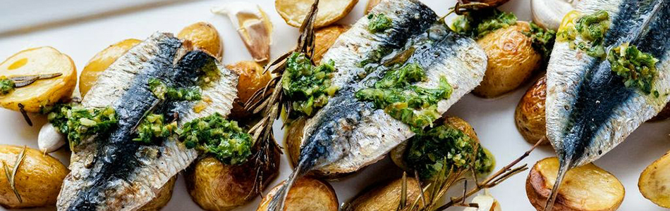 Grilled sardines and and salsa verde recipe