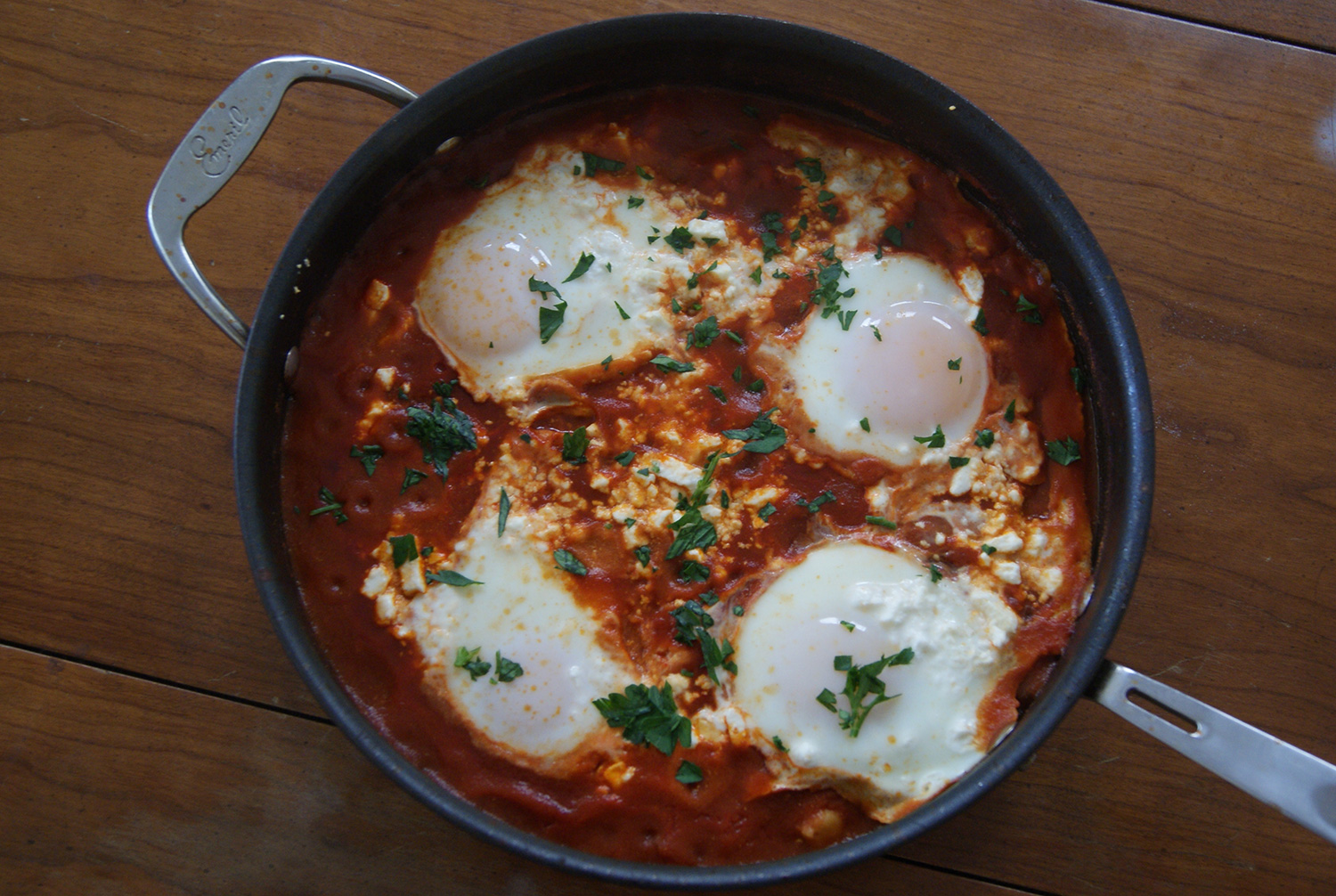Eggs In Tomato Sauce Recipe — Dishmaps