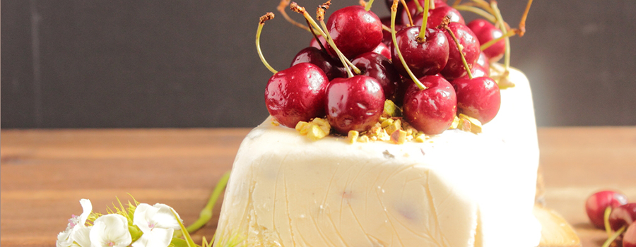 Pistachio and Cherry Semifreddo