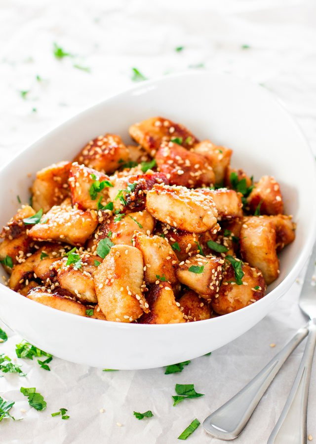 Sesame Garlic Chicken Recipe