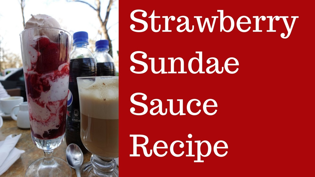 Strawberry Sundae Sauce