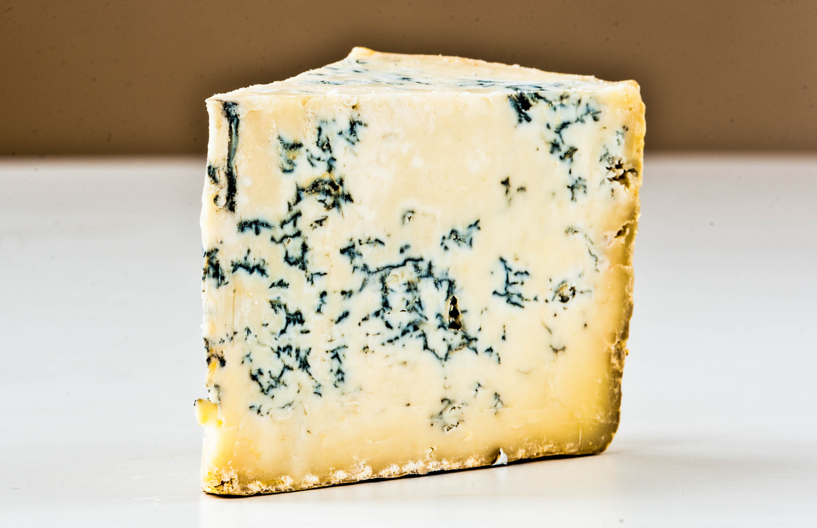 Gorgonzola is a veined Italian blue cheese, made from unskimmed cow's milk.
