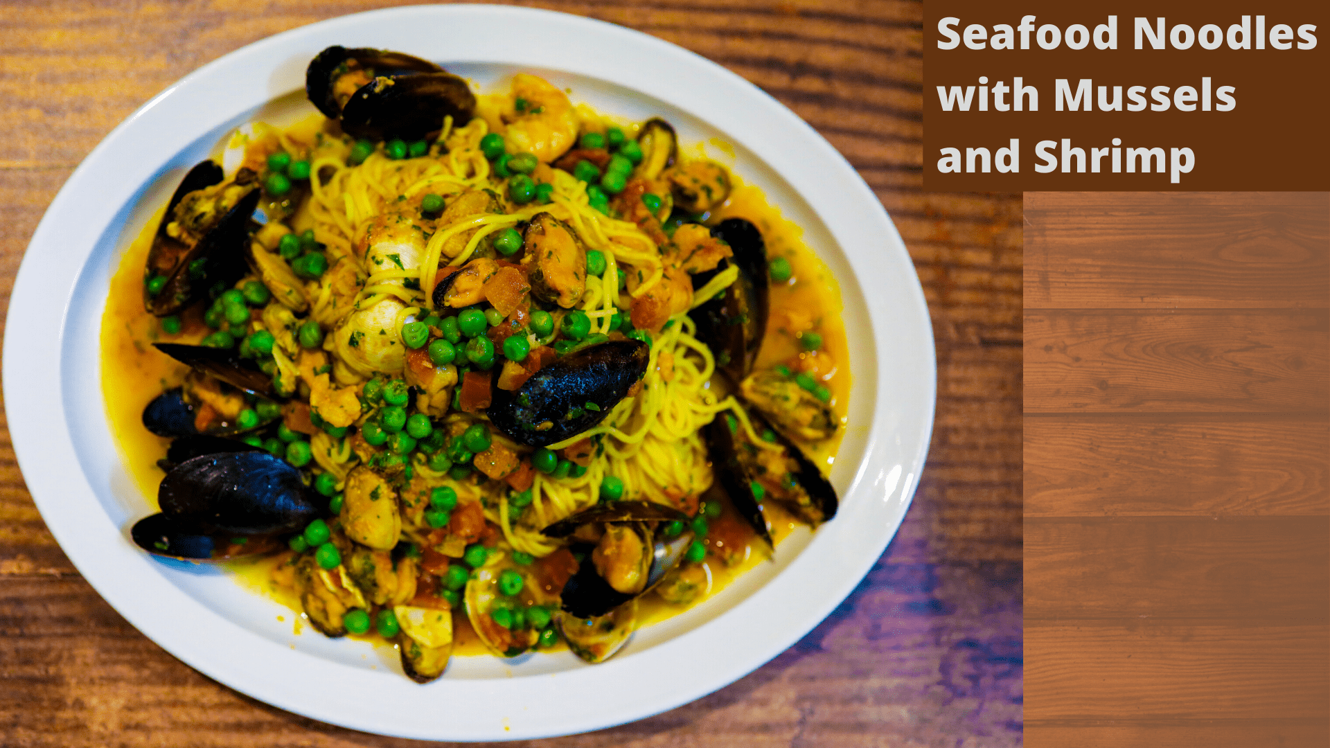 Seafood Noodles with Mussels and Shrimp
